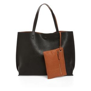 SOLD Street Level Reversible Faux Leather Tote